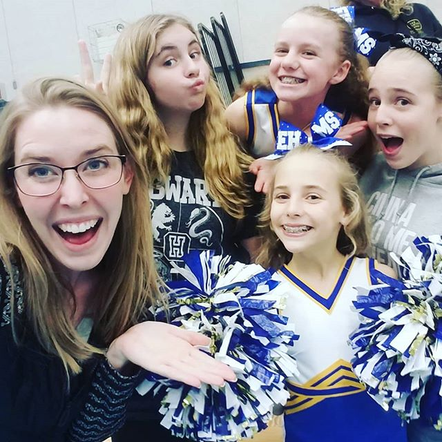 Cheering for the cheerleaders! 🎉 #newhopecov #weloveourstudents