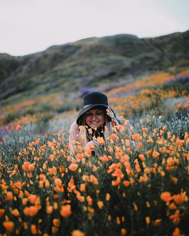 Missing the California super bloom... and also this beautiful friend of mine! Thank you Lord for my life, I feel so rich because of all the love in it.