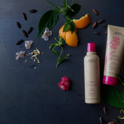 SWEET BY NATURE,WILD AT HEART - Once upon a time, Aveda made a beloved Cherry Almond conditioner. Now, with Cherry Almond Softening Shampoo and Conditioner, the aroma is back and better than ever.