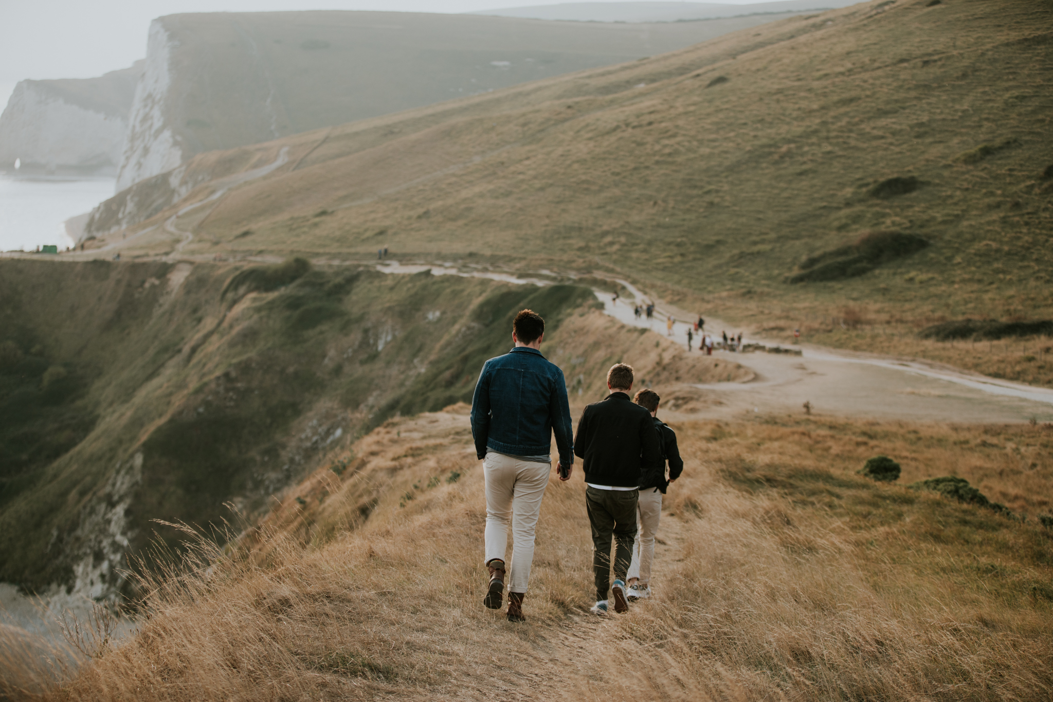 Venturing the gorgeous cliffs of Lulworth Cove and Durdle Door at sun down.