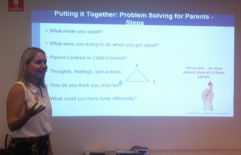 Sarah talking about the Problem Solving for Parents steps