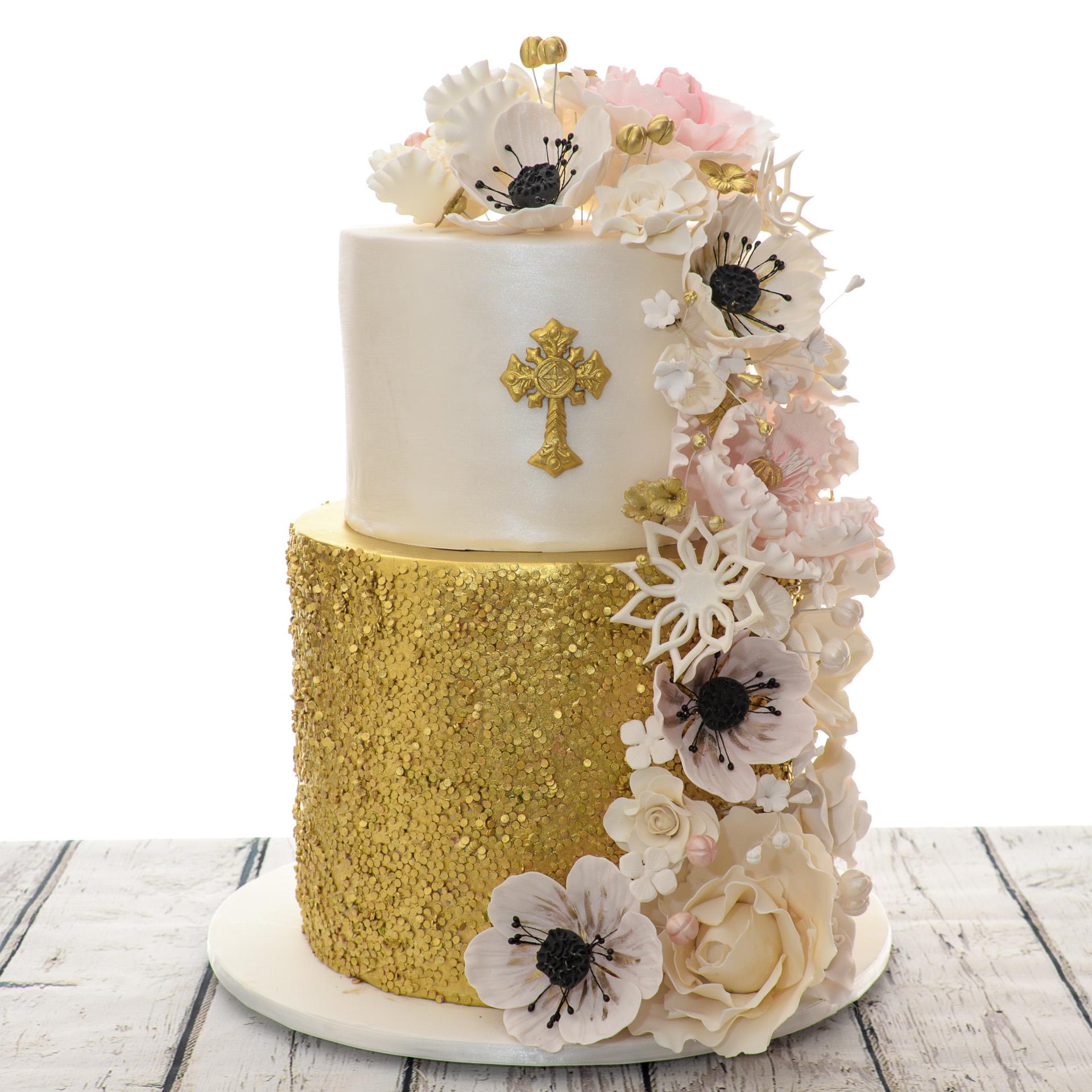 White-and-Gold-Sequin-Flowers-Christening-Religious-Cake.jpg
