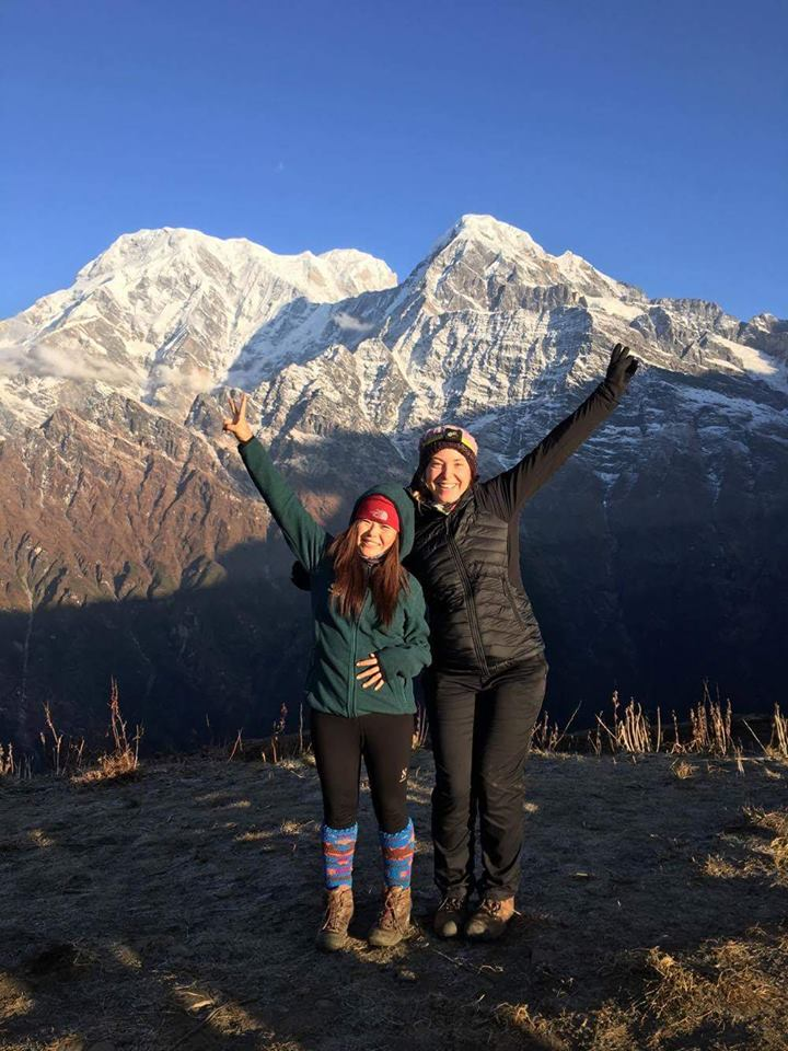 young independent female trekking guide pokhara