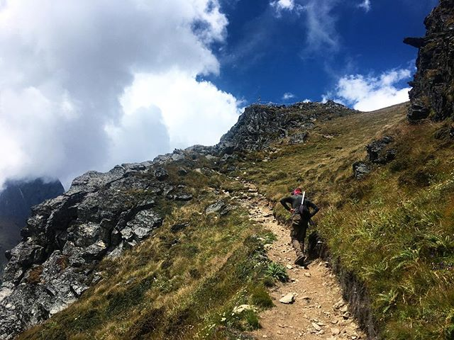 Making the way past the 4000m mark in Langtang valley #langtang #himalayas #trekking #nepal