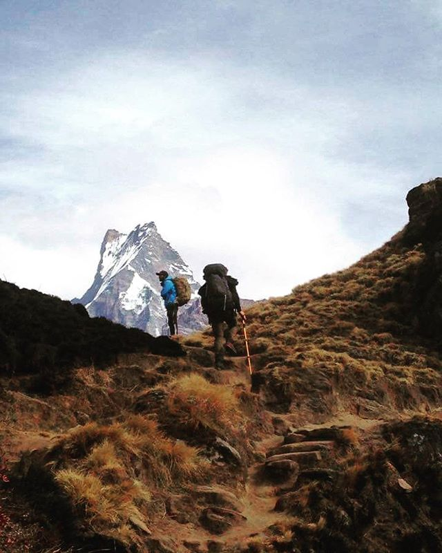 A snap from our guide Raju's latest trip to Mardi Himal. Raju told me that Mardi Himal is one of Nepal's most special treks. You're taken right into the heart of the Himalayas on the first day. Being a less travelled route, there's plenty of space to just sit back and appreciate the beauty of Nepal's majestic landscapes #mardihimal #trekking #nepal