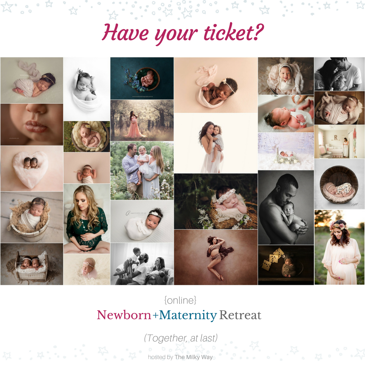 You + Me + 30 other newborn + maternity photographers = AMAZING learning opportunity!   Early-bird sale is on now for the 2018 {online} Newborn + Maternity Retreat - but ONLY until Feb 2nd!  Get your ticket right here - Click this link:   https://fq140.isrefer.com/go/2018NewbornRetreat/mstief/