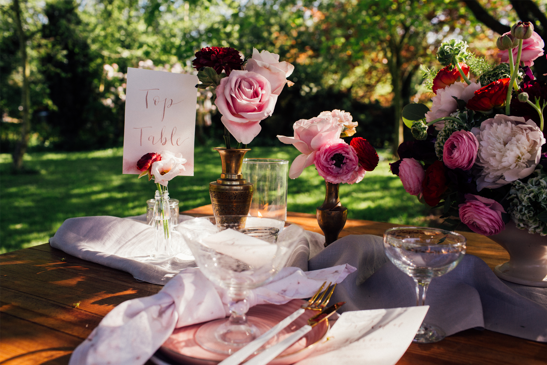 Photo by   Emily Little Photography  , styled by   The White Emporium  , flowers by  Gin House Flowers