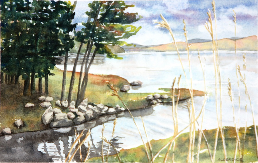 "MUNRO'S POINT, CAPE BRETON, Watercolour, 10"" x 7"""