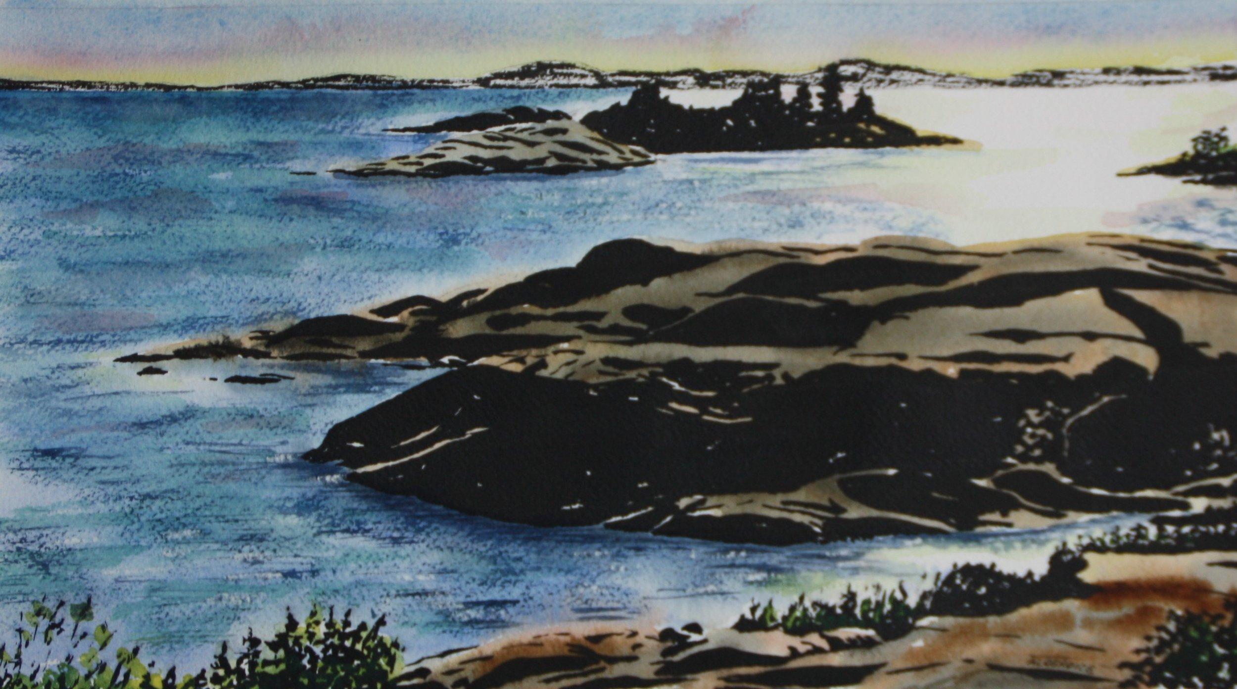 "KILLARNEY #2, watercolour & ink, 10"" x 8"""