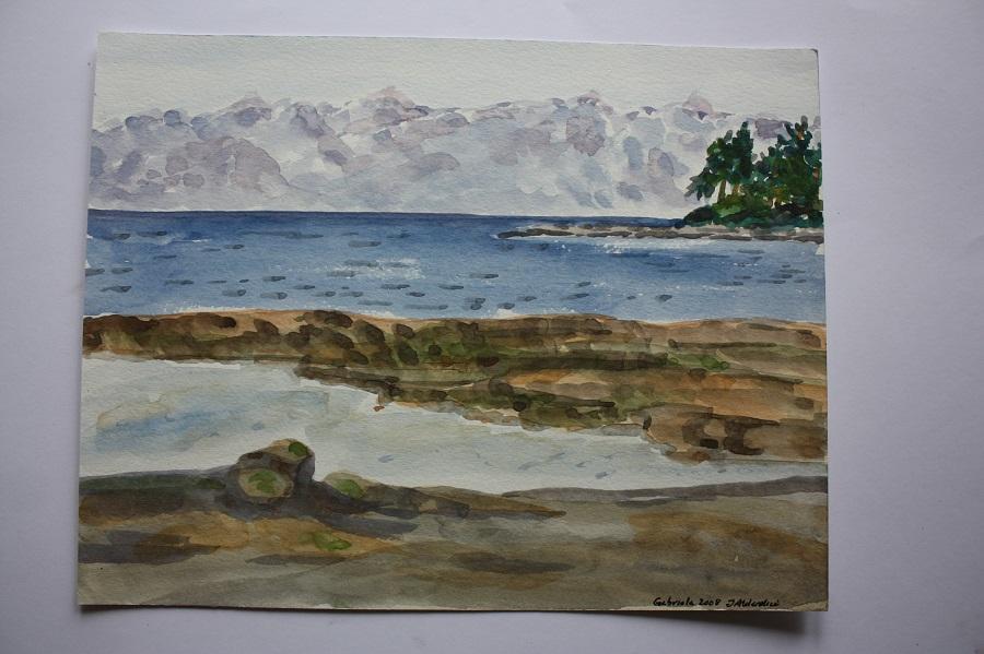 "GABRIOLA ISLAND, watercolour sketch, 8"" x 10"""