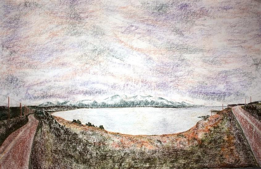 "CHETICAMP ISLAND, Pastel, 40"" x 30"""