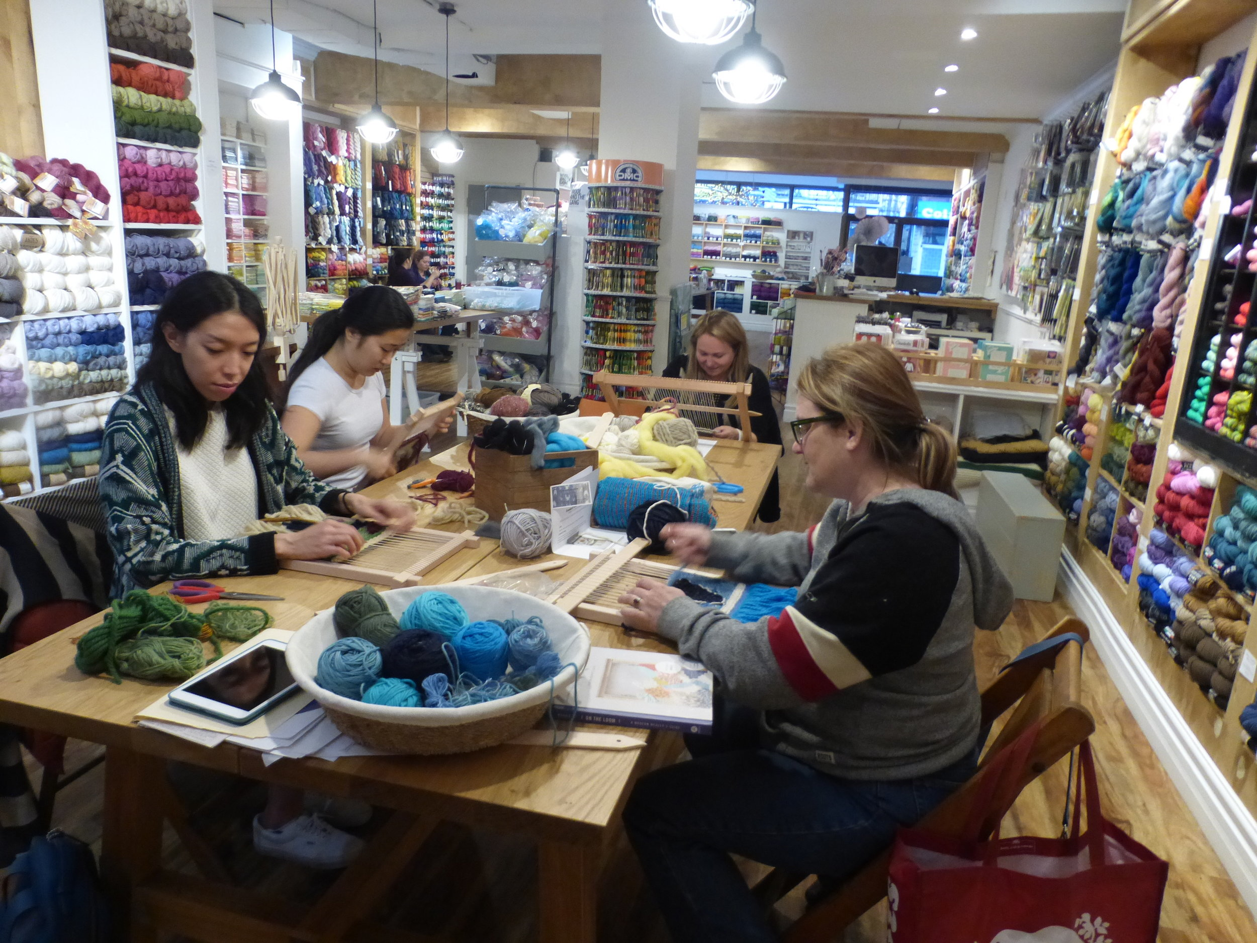 Tapestry class at Eweknit - great environment to work in - weaving heaven!