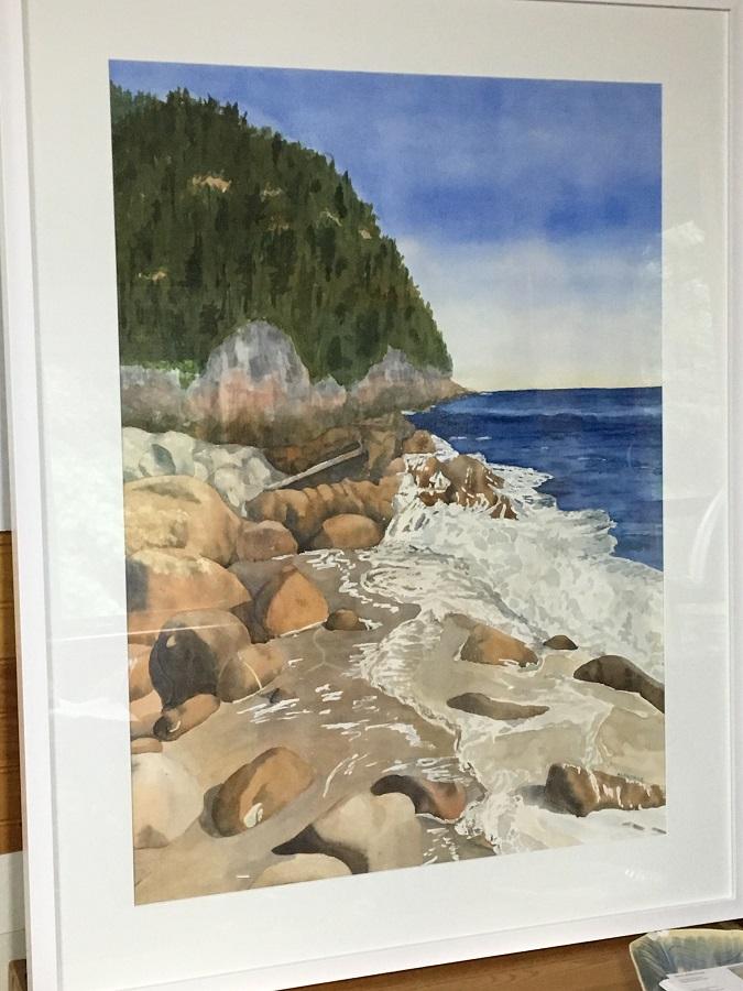 "Black Brook Cove, Watercolour, 30"" x 20"""