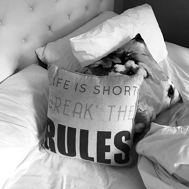 Life is short⠀ Break the rules ⠀ ⠀ ....⠀ ⠀ Or at the very least make your own.⠀ ⠀ Running your own business is about taking responsibility for basically everything.⠀ ⠀ But being a business owner is also all about having the freedom to make all the decisions.⠀ ⠀ When things get complicated I remember what it was like working for someone else.⠀ ⠀ And yeah - I'll take the freedom with the responsibly, thanks 😁⠀ ⠀ Regardless of your preferred day to day, it never hurts to remember you have choices 😍⠀ ⠀ Go on - make your own rules.⠀ ⠀ x