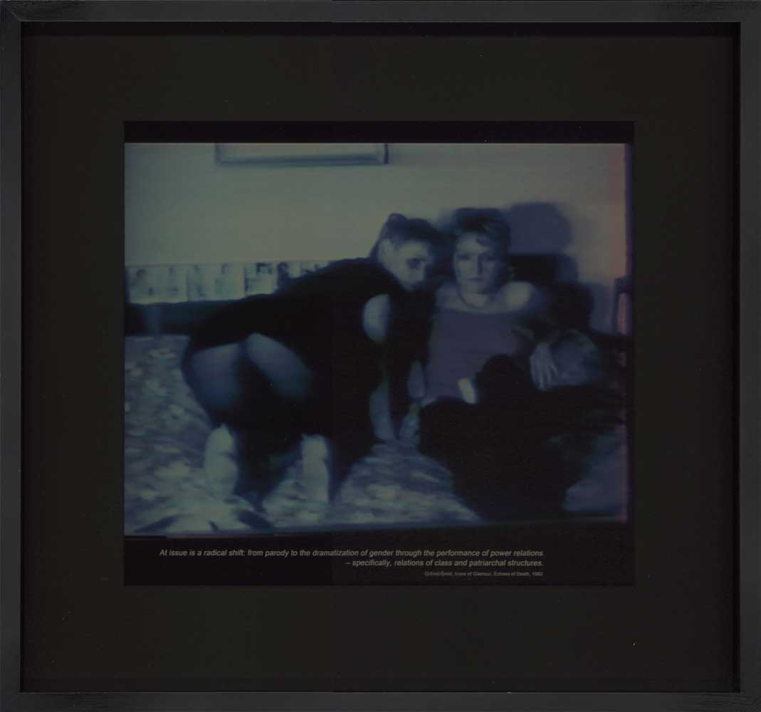 19. Marina Grzinic and Aina Smid - Gender power relations1982Foto, gerahmt34 x 30 cmThanx to all for having supported solidarity matters ️
