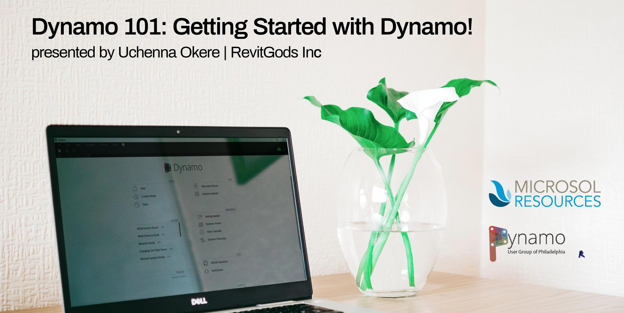 March 13 - Dynamo 101: Getting Started with Dynamo — PDUG