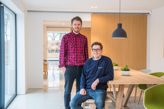 Oliver and Ben Wigg built the two detached homes pictured above on the site of a bungalow in Barton, near Cambridge MARK BOURDILLON