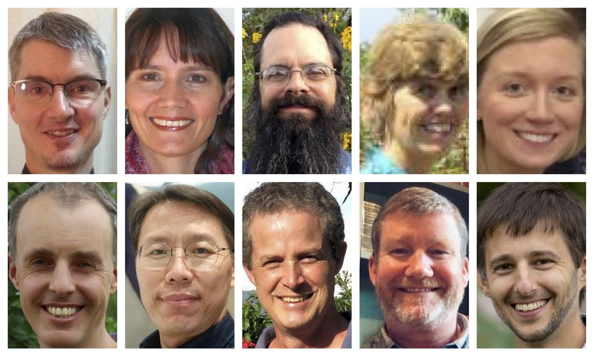 Top: Anderbeck, Beavon-Ham, Crosland, Dickie, Hanna. Bottom: Harley, Son, Troolin, Watters, Yoder.
