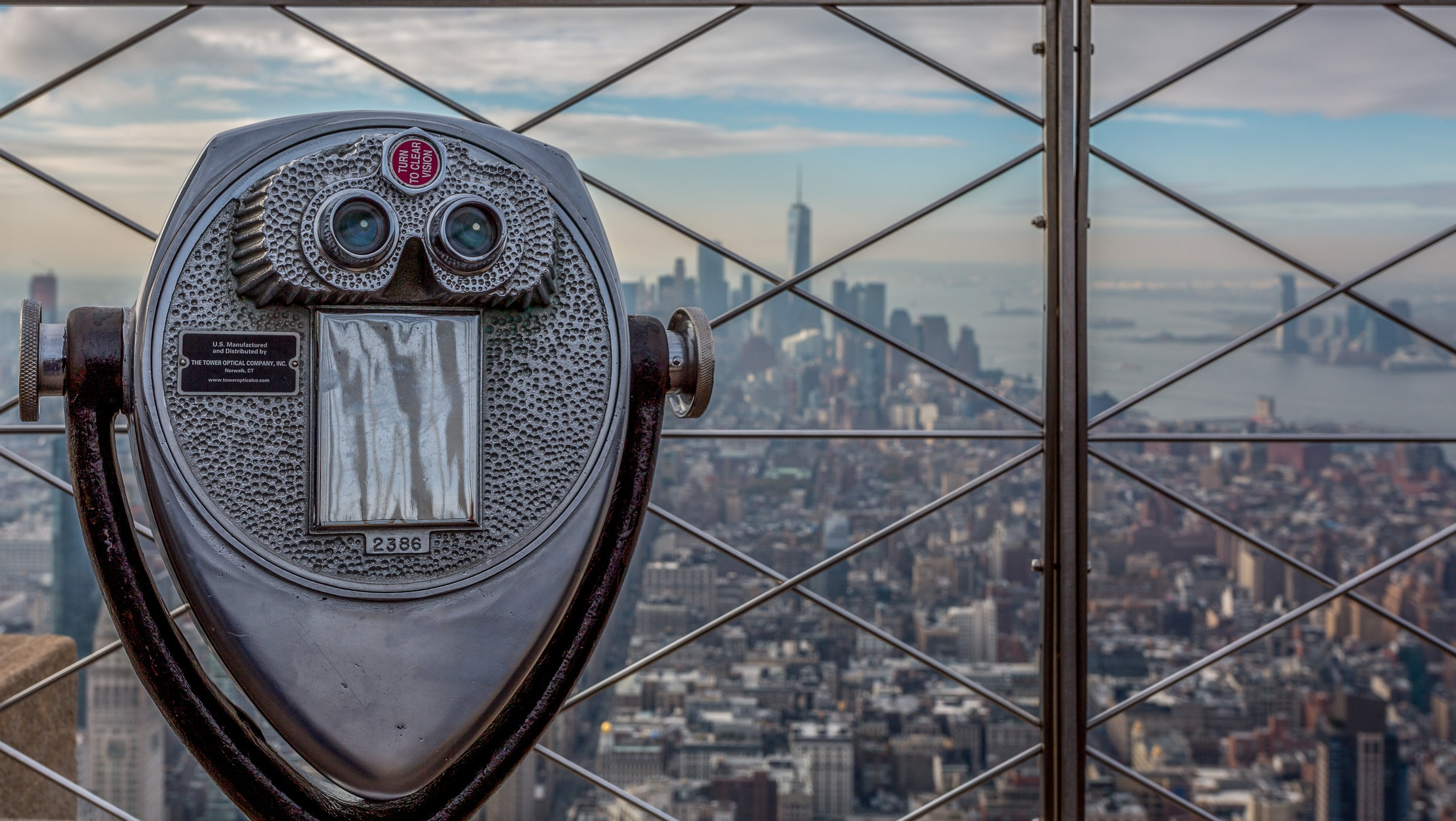 View from top of the Empire State Building.