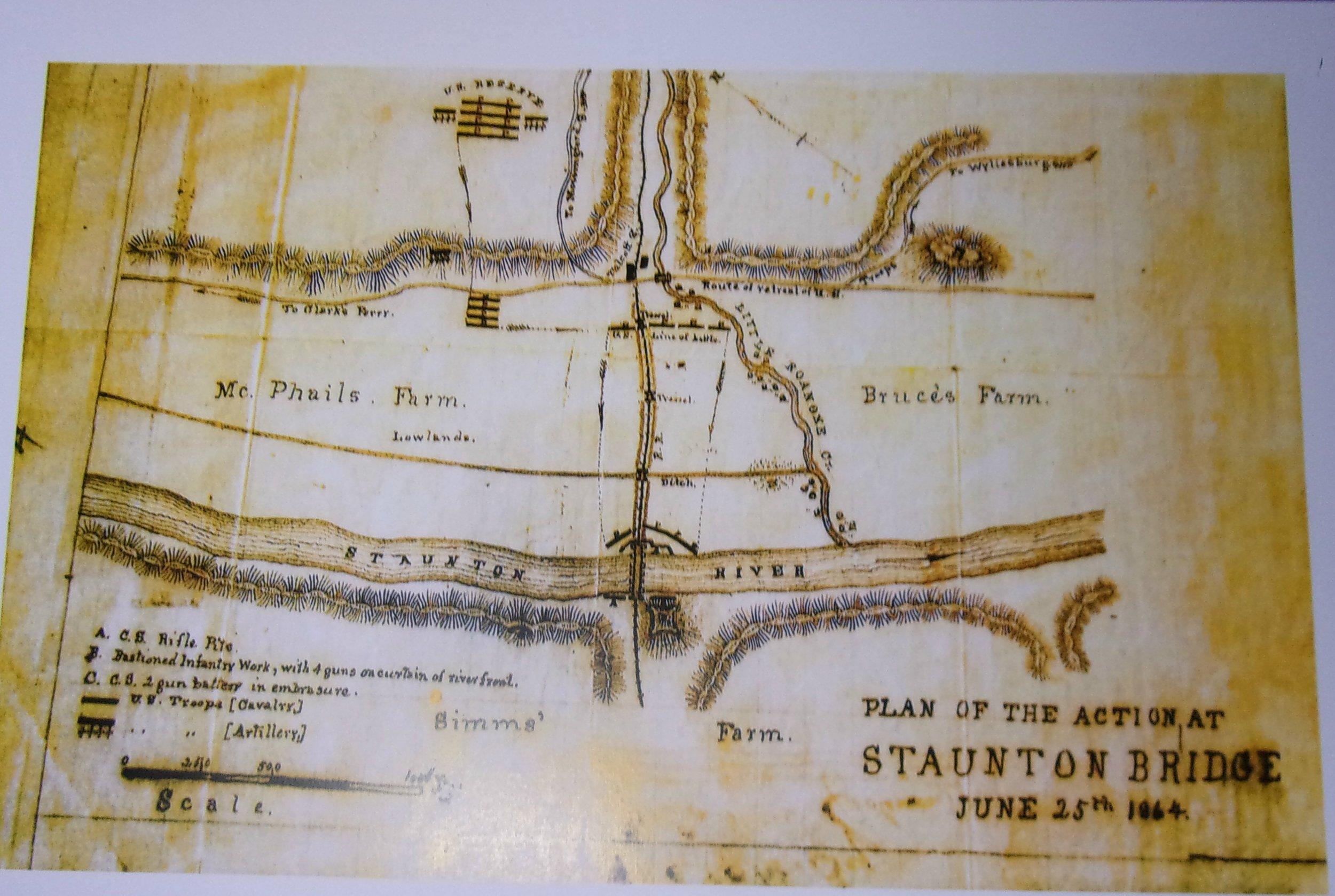 PRINT Plan of the Action at Staunton Bridge.jpg