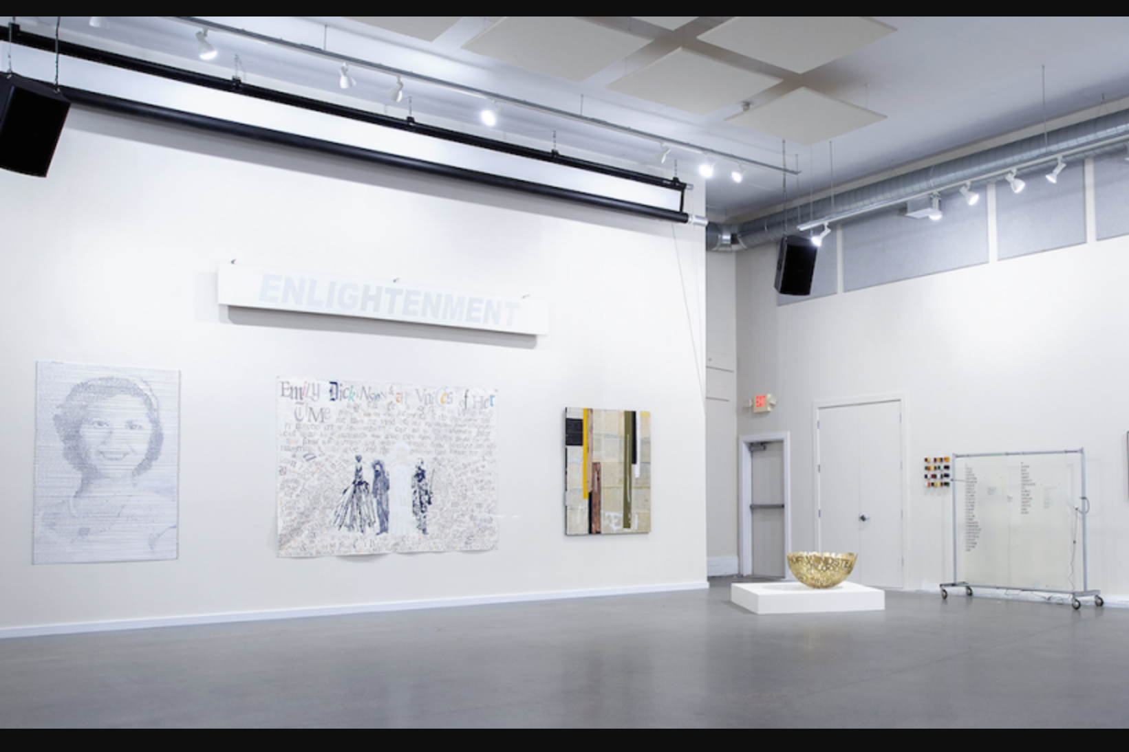 WORD: Text in Contemporary Art   Jamestown Art Center (up through August 13; curator's tour on July 25)