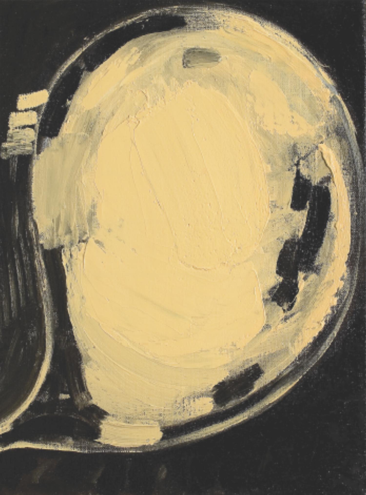 Mira Schor,  Portrait of My Brain , 2007. Oil on linen, 16 x 12 in.