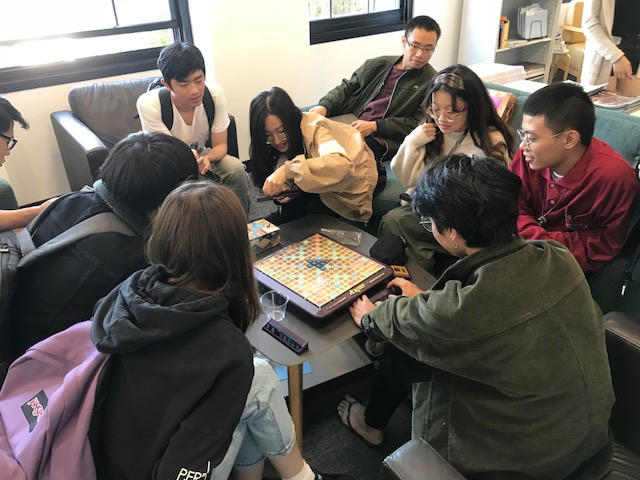 A group of grad students took a first shot at Scrabble!