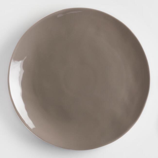 GRAY DINNER PLATE