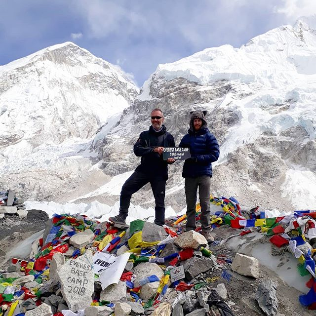 Bucket List No. 137 📍Everest Base Camp (with the old man) #ebc #crobsabroadway