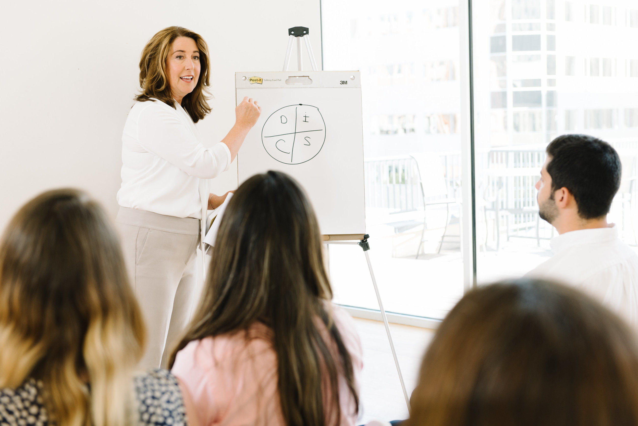 training and facilitation - We provide dynamic group coaching, employee trainings, and facilitation. Such training may include DiSC and other strengths-related assessments.
