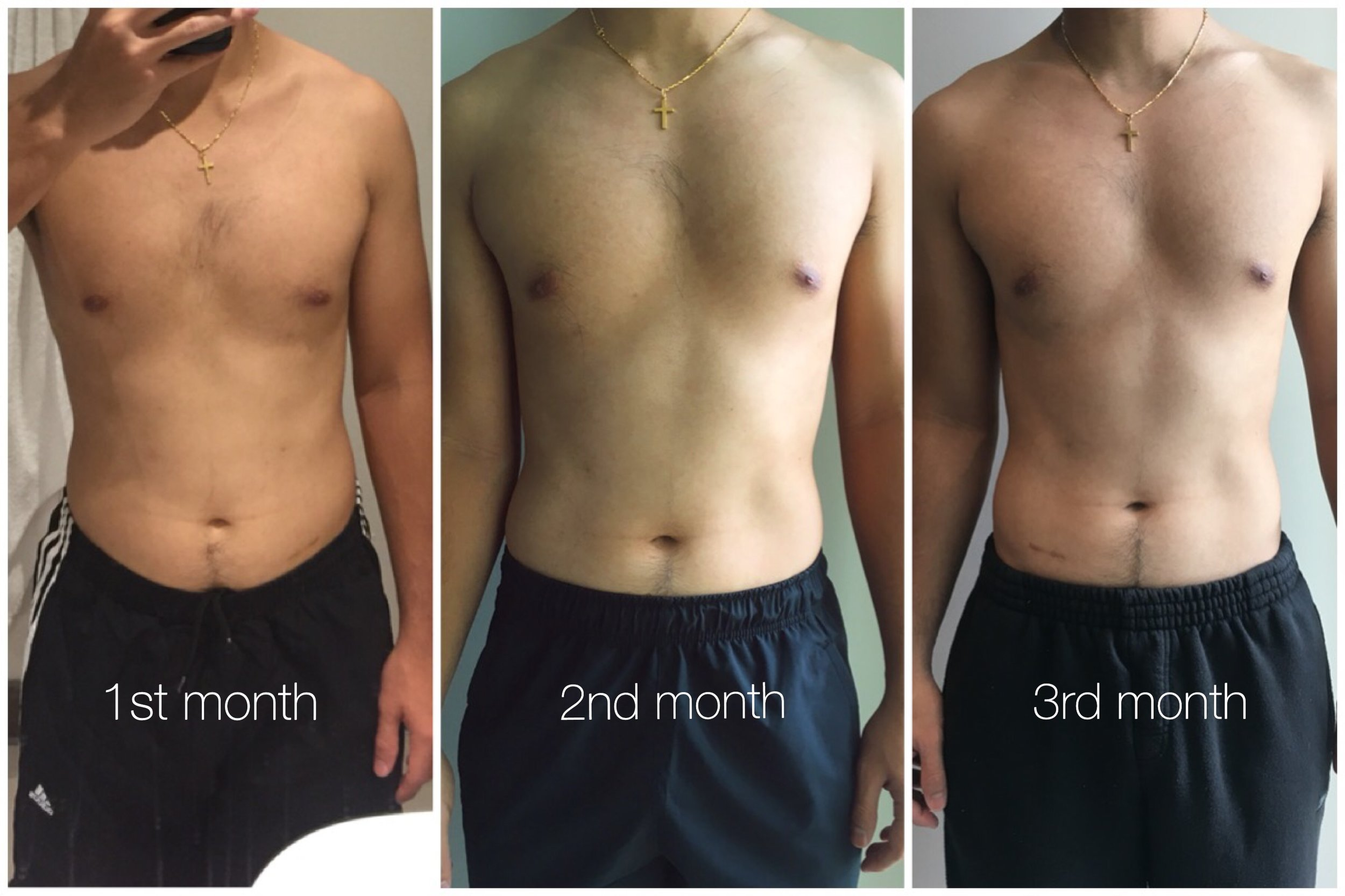1st month                 2nd month                 3rd month