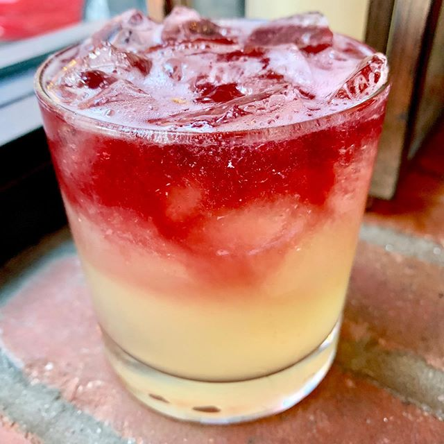 Cheers to the weekend 🥃! Come kick off your Friday with a Hong Kong Sour and some of our delicious new Blackboard Specials #eatbluedragon #drinkbluedragon @mingtsai