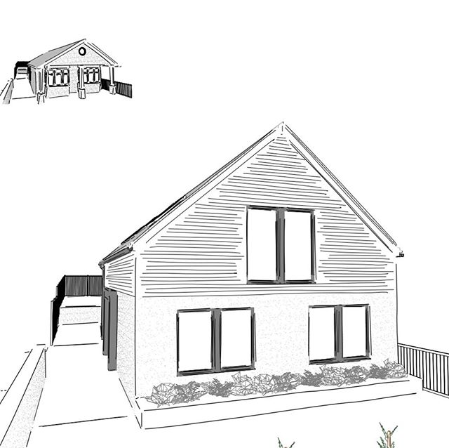 We've been working for a while with planners on this bungalow conversion and permission was finally granted this afternoon.  A four bed contemporary dwelling coming to Horfield soon...