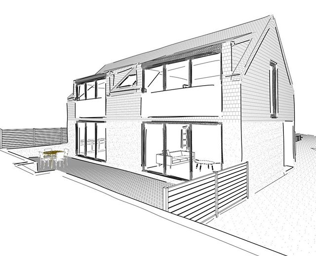 Another week, another new build approval for #WANA. This time for a contemporary take on the dormer bungalow in #hanham #bristol #notallbungalowslookthesame
