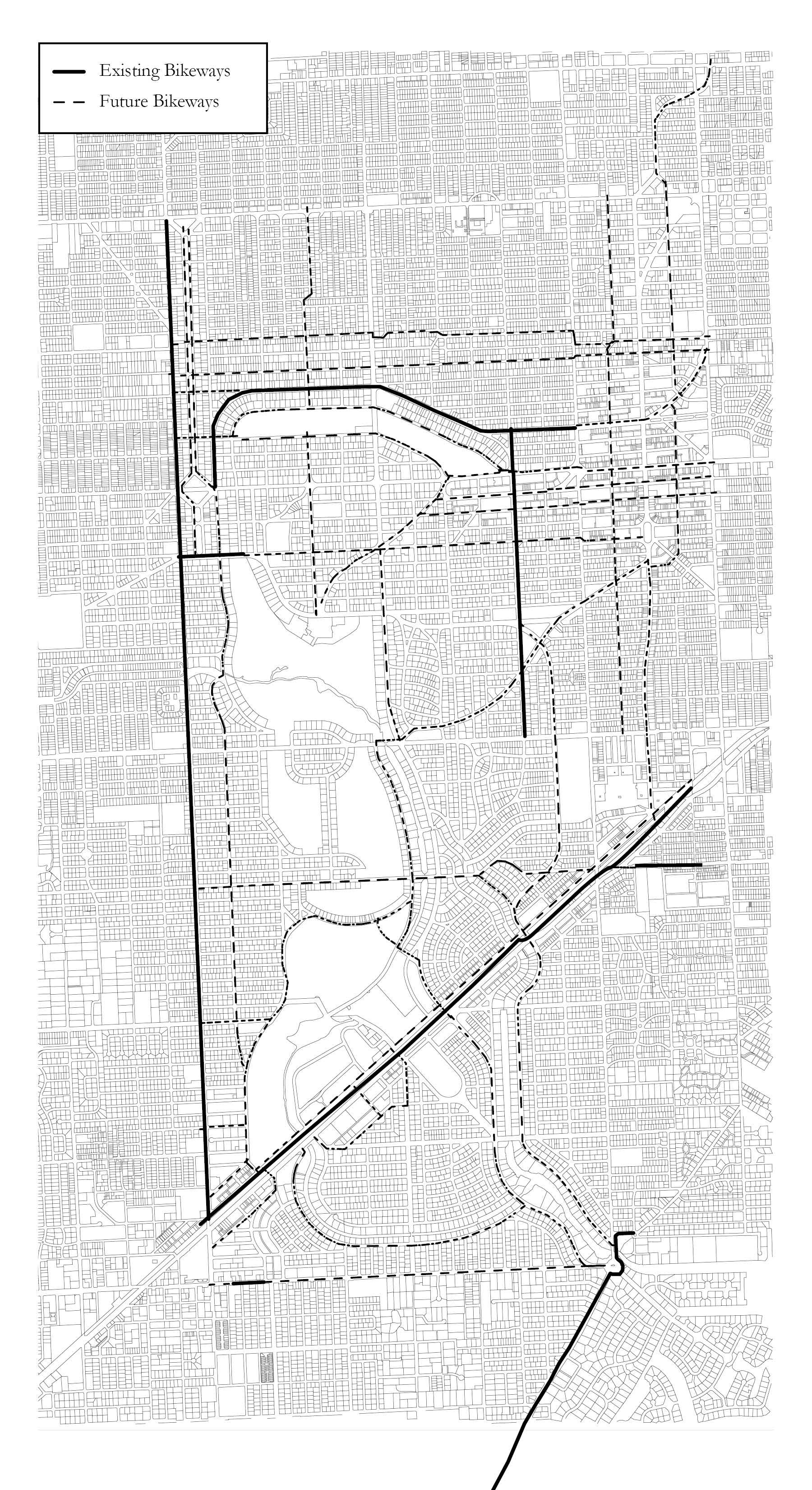 Future bikeways identified in 2014 Bike & Pedestrian Master Plan