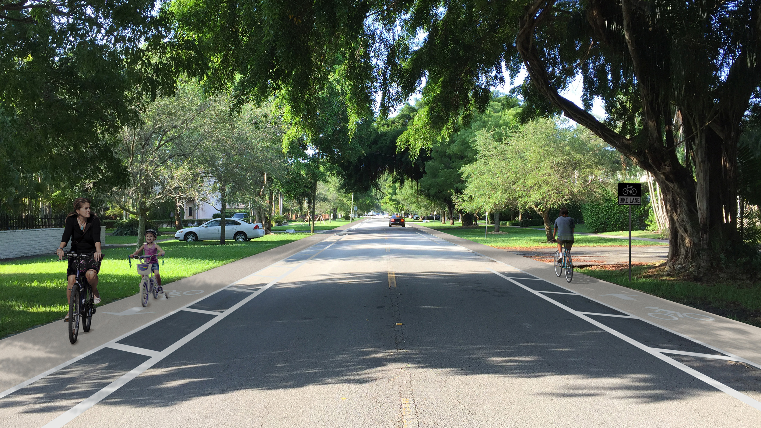 Riviera Street - Buffered Bike Lanes