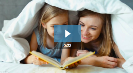 3. Looking for a meaningful way to promote a kids' literacy effort? Just add your message and logo to this sweet  22-second video template !