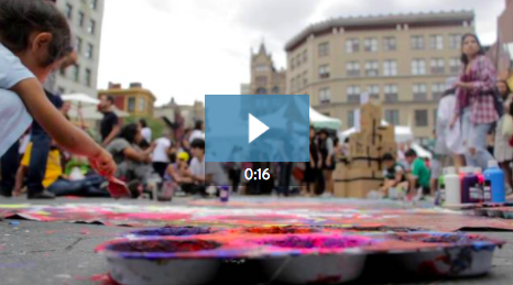 6. Is your nonprofit running an outdoor festival or event this year?  This 16-second video  template features street art, vendors, and foot traffic -- perfect for promoting ticket sales and sponsorships!