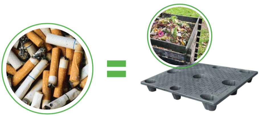 TerraCycle can turn cigarette butts into pallets for industrial use!