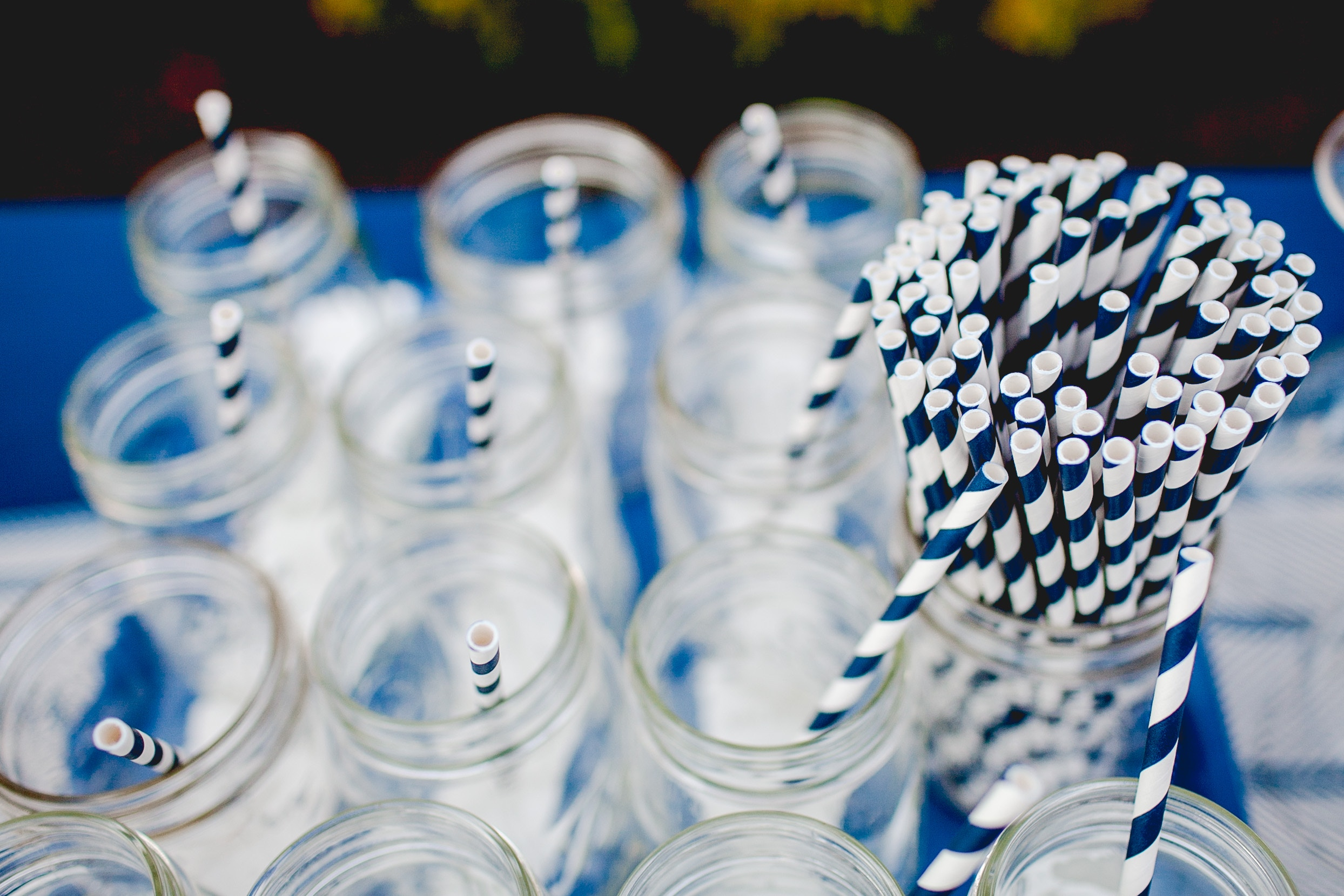 If your business is a restaurant consider switching to paper or stainless steel straws! Photo by  Danielle MacInnes  on  Unsplash
