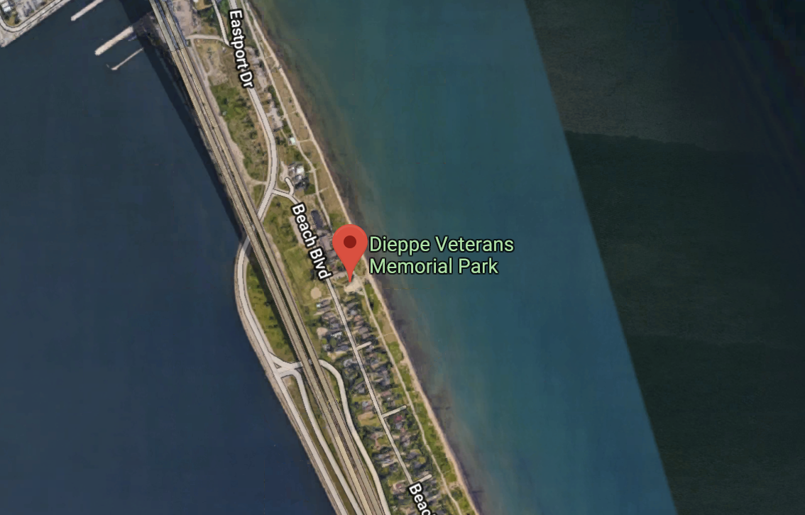 You'll find us in the parking lot at Dieppe Veterans Memorial Park on Beach Blvd.