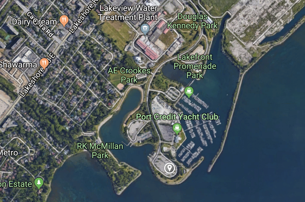 We'll be meeting in the south parking lot along the shores of Lake Ontario.