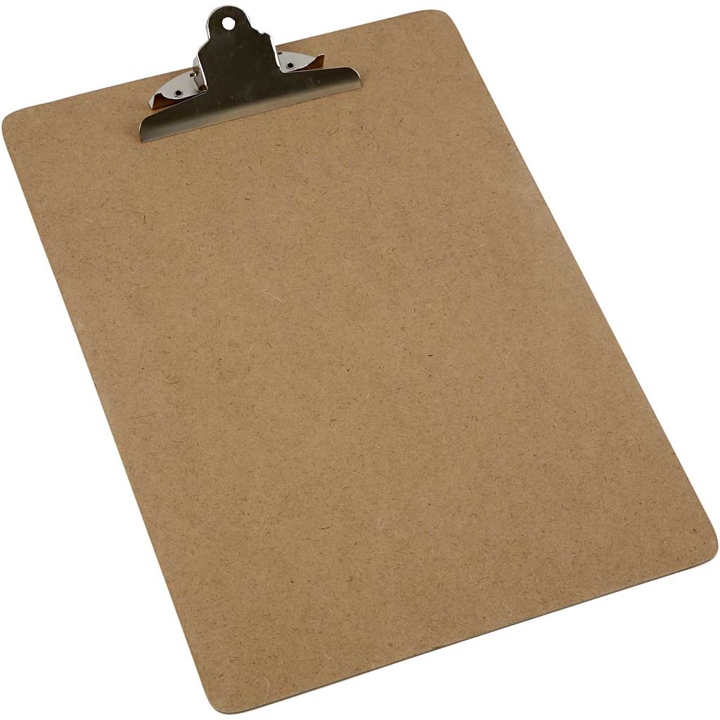 Clip Board - Holds on to the data sheet for a sturdy writing surface.