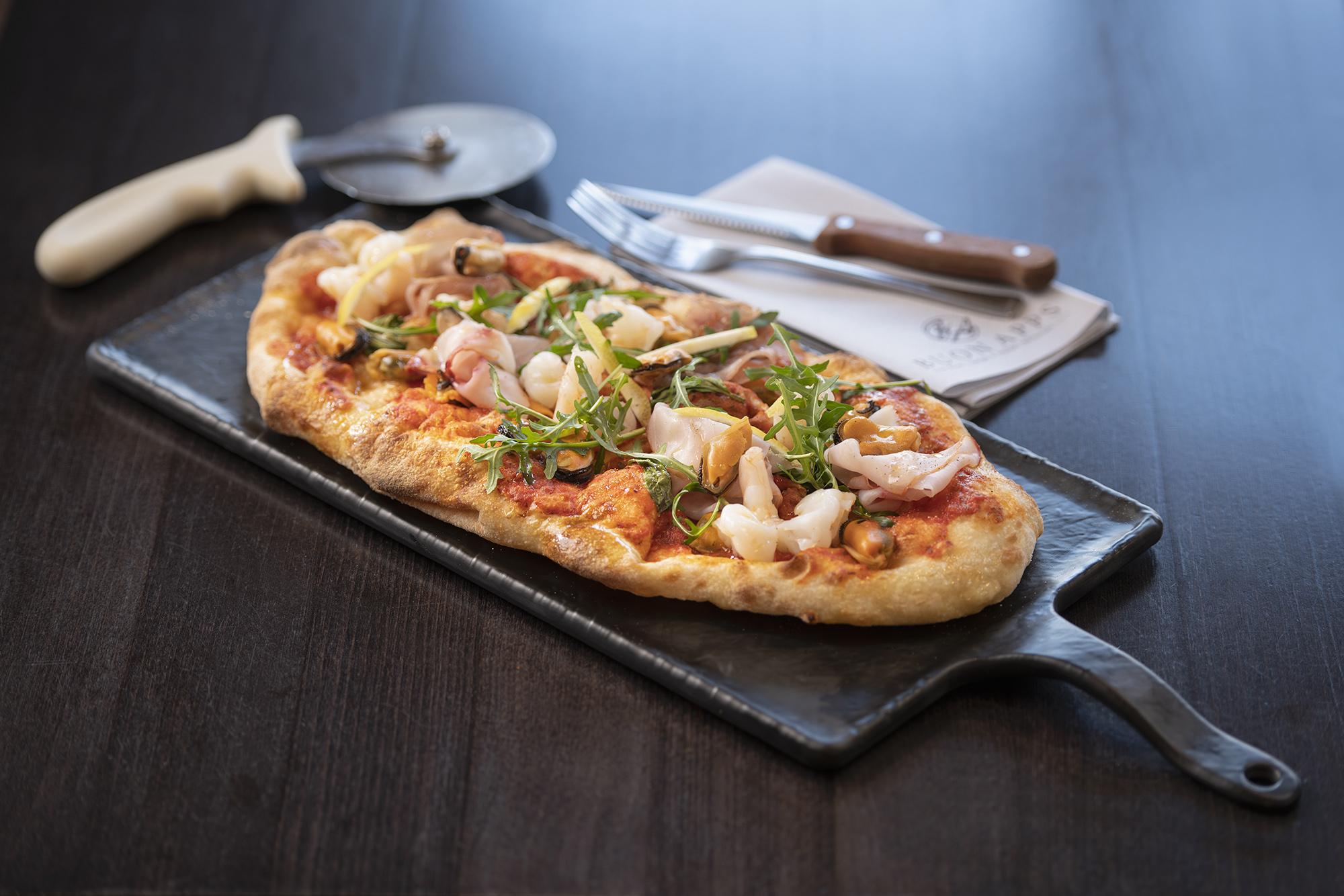 Pinsa Romana — Buon Apps River Lounge & Italian Restaurant