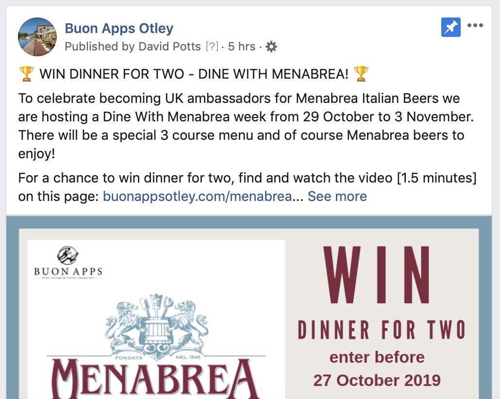 Buon Apps Facebook Page - facebook.com/BuonAppsOtleyLeeds (@BuonAppsOtleyLeeds)