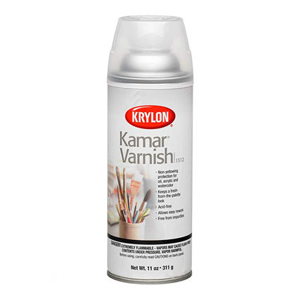 Kamar Varnish - For sealing all your inks to the paper. Without this, your colors will bleed when you try and seal them.