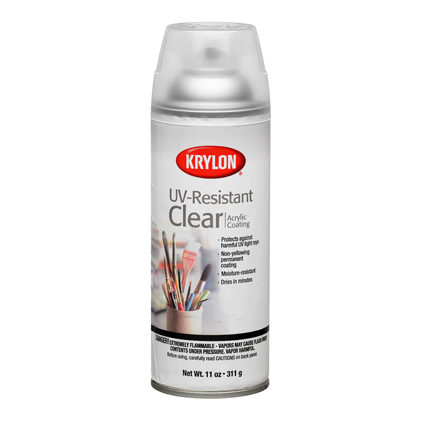UV-Resistant Spray - Gloss - Always use a UV spray, otherwise your paintings will fade over time.