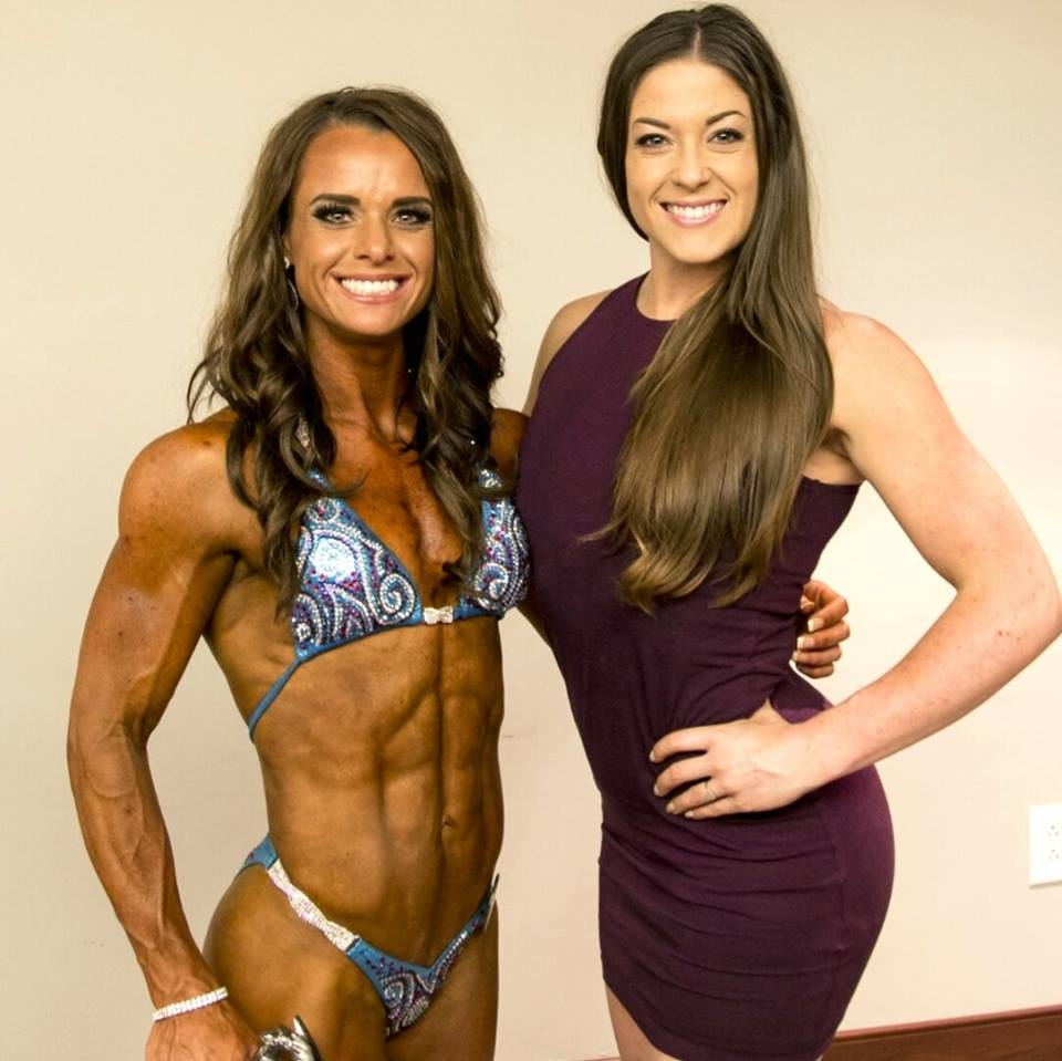 IFBB Pro's: Ashley Bader and Lily Evans Credit: Ashley Bader