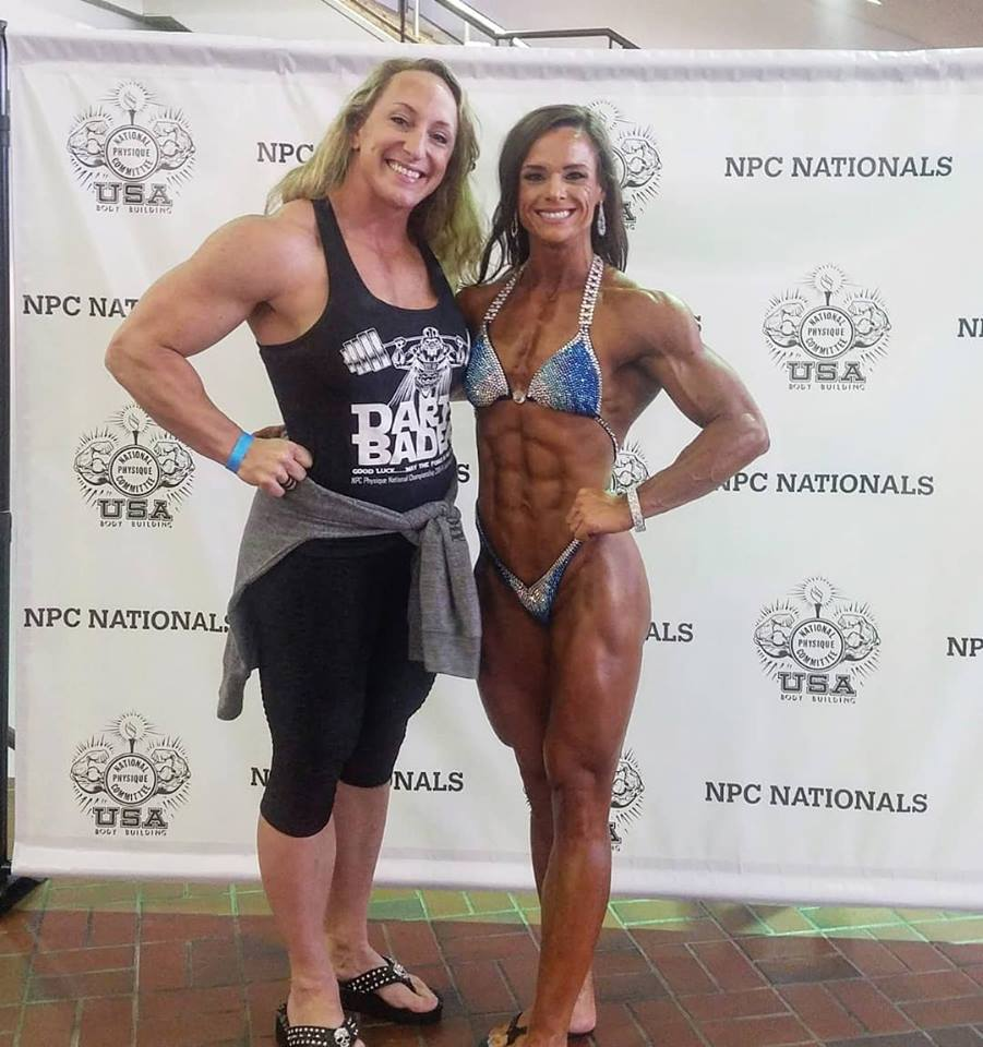 Ashley and her coach, IFBB pro Mary Cain Credit: Ashley Bader
