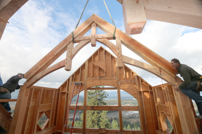 Timber Trusses and Wood Accents